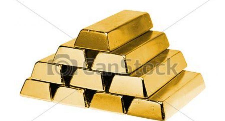 Nuggets, Lingots, d'or à vendre